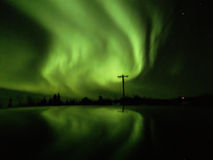 Aurora at Cleary summit. Alaska Royalty Free Stock Images