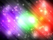 Aurora colorida abstracta con el fondo ligero del glister libre illustration