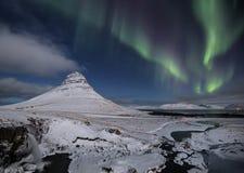 Aurora Converging Lines Images libres de droits