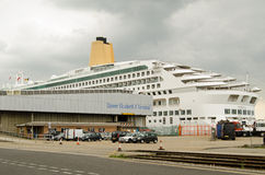 Aurora Cruise Ship, Southampton-Docks Stockfotografie