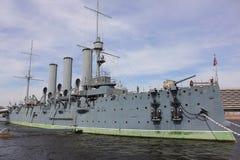 Aurora cruiser museum, Saint-Petersburg Stock Photos