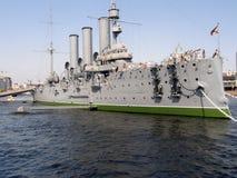 Aurora cruiser museum in St. Petersburg Royalty Free Stock Photos