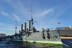 Aurora cruiser museum in St.Petersburg Stock Photo