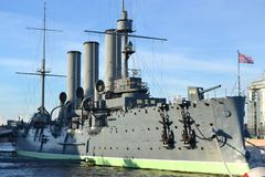 Aurora cruiser museum in St.Petersburg Royalty Free Stock Photography