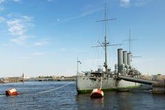 Aurora cruiser in Saint-Petersburg Royalty Free Stock Image