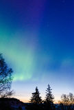 Aurora Dawn 2. Green ring aurora roars towards the dawn Stock Photography
