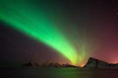 Aurora de Vestvagoya imagens de stock