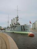 Aurora del crucero en St Petersburg, Rusia Foto de archivo