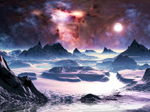 Aurora di inverno illustrazione vettoriale