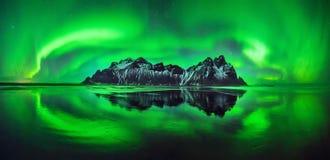 Aurora di Stokksnes Immagini Stock