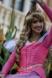 Sleeping Beauty`s Aurora in Disneyland Parade stock photos