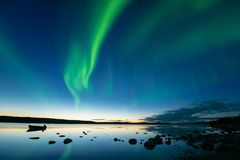 Aurora at Dusk Royalty Free Stock Photography