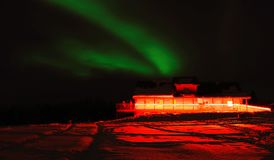 Aurora en el fairbanks Alaska foto de archivo libre de regalías