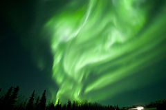 Aurora flutter. S like a flag Royalty Free Stock Image