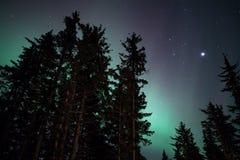 Aurora Glow débil Fotos de archivo libres de regalías