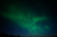 Aurora Glow 1. Green aurora floats across the Big Dipper Royalty Free Stock Photos
