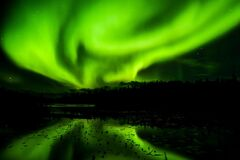 Aurora, Green, Nature, Atmosphere royalty free stock images
