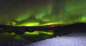 Aurora in Iceland Stock Photography