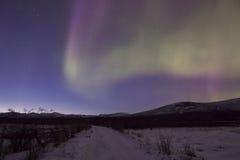 Aurora im Himmel Yakutia Lizenzfreies Stockbild