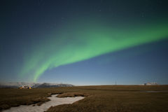 Aurora in Island Stockbild