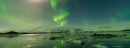Aurora in Island Lizenzfreies Stockfoto