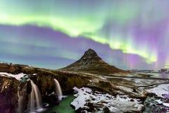 Aurora Islandia de la luz septentrional foto de archivo libre de regalías