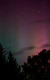 Aurora Light 1. Aurora causes vertical spotlight in the northern sky Royalty Free Stock Image