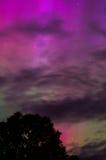 Aurora Light 5. Rare red aurora lights up the night Stock Image