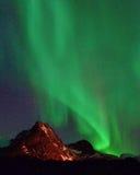Aurora Lofoten Svolvaer imagen de archivo libre de regalías