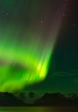 Aurora Loop über Gregwink-Gletscher Lizenzfreie Stockfotos