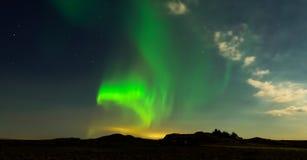 Aurora, luz septentrional Fotos de archivo libres de regalías