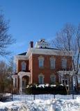 Aurora Mansion im Schnee Stockbilder