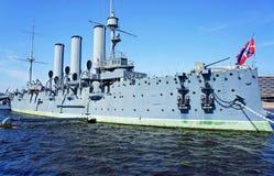 Aurora. Museum ship Aurora in St. Peterburg Royalty Free Stock Image