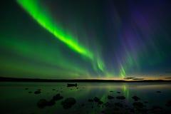 Aurora nach Sonnenuntergang Stockfotografie