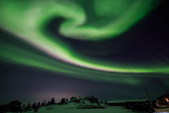Aurora, night at alaska, fairbanks Stock Image