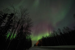 Aurora, night at alaska, fairbanks Royalty Free Stock Photography
