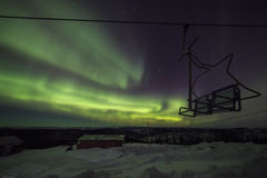 Aurora, night at alaska, fairbanks Stock Photo
