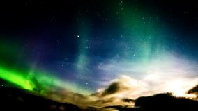 Aurora at the night stock footage
