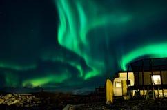 Aurora Northern Lights im Himmel Lizenzfreies Stockbild