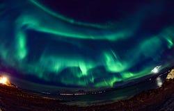 Aurora Northern Lights im Himmel Lizenzfreie Stockbilder