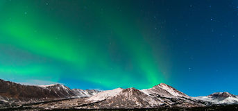 Aurora. The Northern Lights over mountains in Alaska Royalty Free Stock Photo