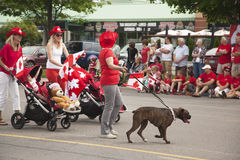 AURORA, ONTARIO, CANADA- JULY 1: Canada Day Parad at part of Young street in Aurora on July 1, 2013 Stock Images
