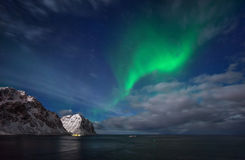 Aurora over Flaget royalty free stock image