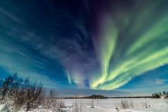 Aurora Over het Meer Stock Fotografie