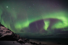 Aurora over Lofoten, Norway Stock Photos