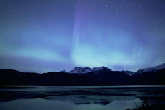 Aurora over the Lynn Canal Royalty Free Stock Photography
