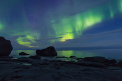 Aurora over the sea Stock Images