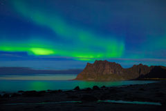 Aurora over the sea Royalty Free Stock Images