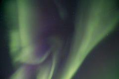 Aurora overhead. Purple Aurora overhead near Fairbanks Stock Photo