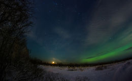 Aurora polare Immagine Stock